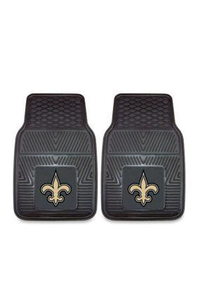 Fanmats Nfl New Orleans Saints 2-Piece Vinyl Car Mat Set - Black - One Size