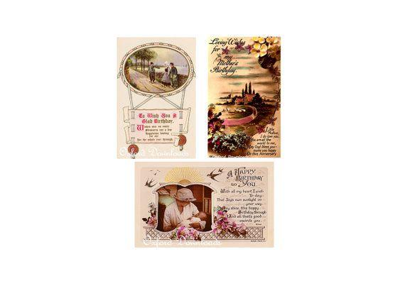 3 x Vintage PostcardEdwardian Postcard1920s by OxfordDownloads