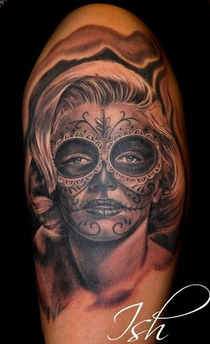 ~Marilyn Monroe Sugar Skull Girl~ | tattoo | Pinterest ...