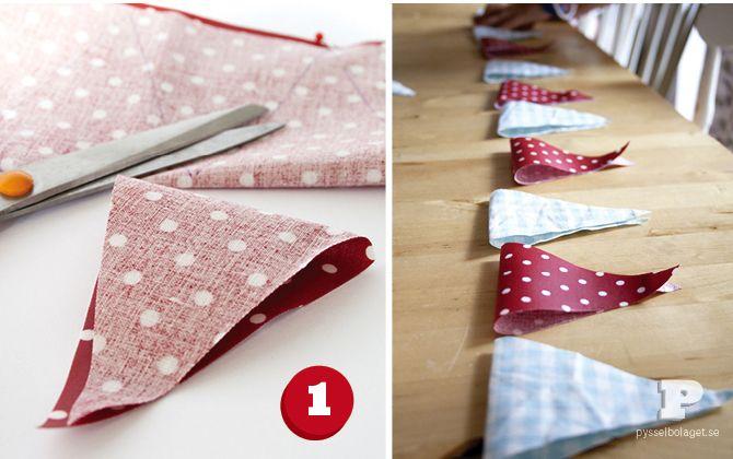 Vaxduksvimplar / Oil cloth bunting - Pysselbolaget - Enkla roliga pyssel för barn och vuxna
