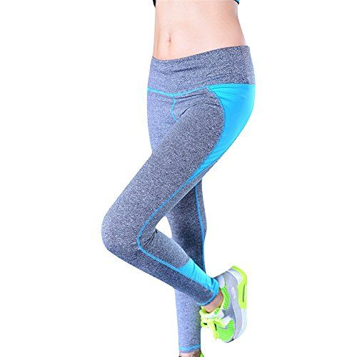 #Damen #Sport #Yoga #Leggings #Hose #(M, #Blue) Damen Sport Yoga Leggings Hose…