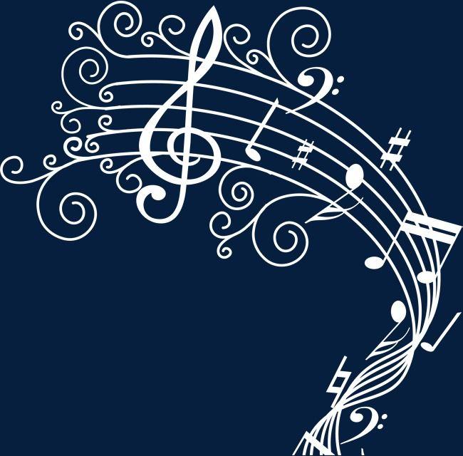 Musical Branco Branco Musica Teste Padrao Decorativo Imagem Png E Psd Para Download Gratuito Notas Musicais Arte Com Notas Musicais Musica
