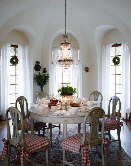 Gustavian Dining / gustaviansk inredning - jul