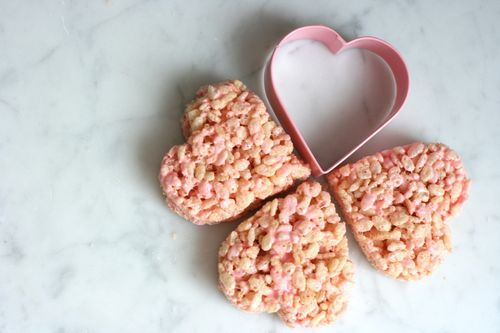 valentines day  rice krispie treats