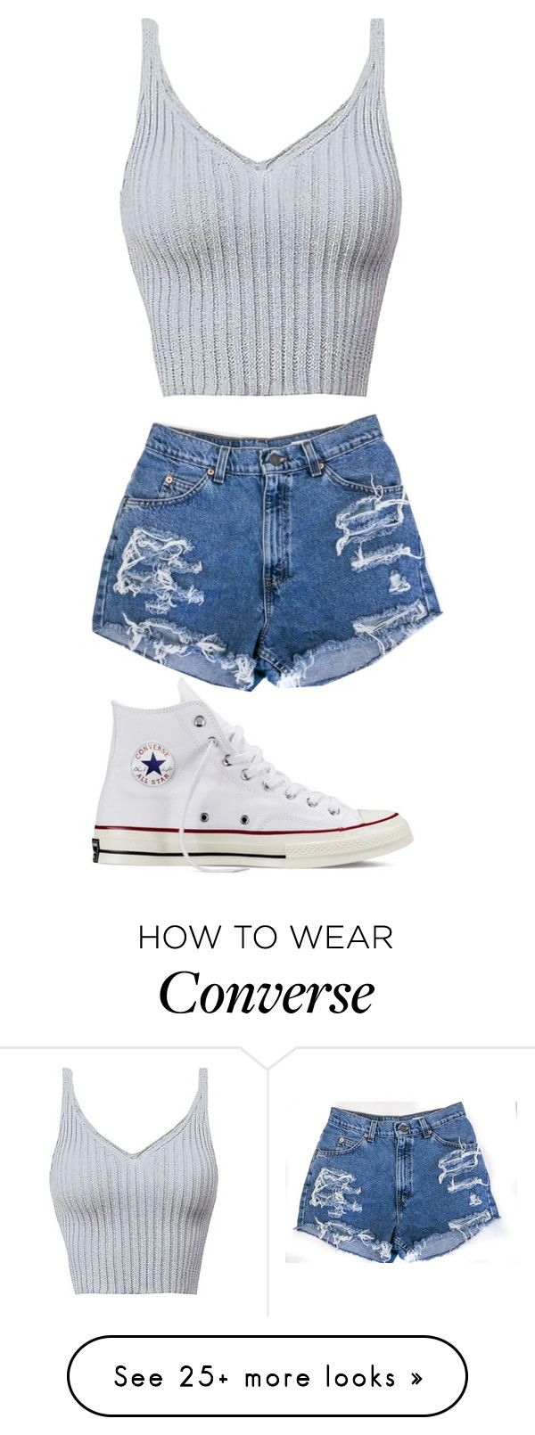 """Untitled #434"" by madelin-ruby on Polyvore featuring Converse"