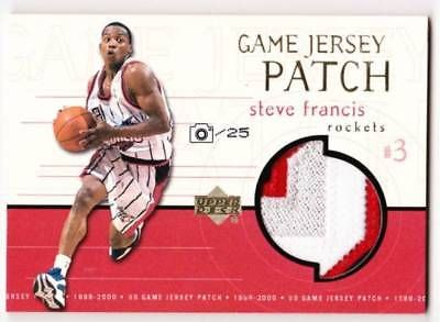 Steve Francis  NBA 99-00 UD Game Jersey Patch Limited to 25 sheets