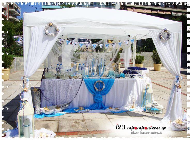 ΣΤΟΛΙΣΜΟΣ ΓΑΜΟΥ - ΒΑΠΤΙΣΗΣ :: Στολισμός Βάπτισης Θεσσαλονίκη και γύρω Νομούς :: ΣΤΟΛΙΣΜΟΣ ΒΑΠΤΙΣΗΣ ΜΕ ΘΑΛΑΣΣΙΝΑ ΚΩΔ:THALASSA-153
