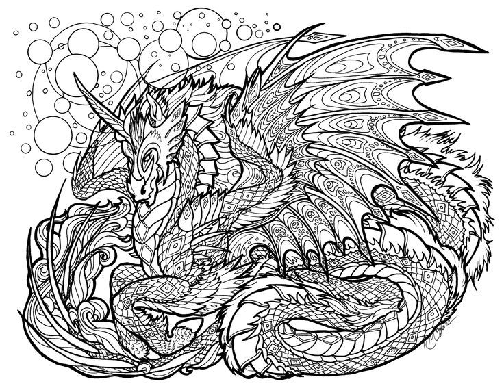 17 Best images about Coloring Pages - Dragons on Pinterest ...