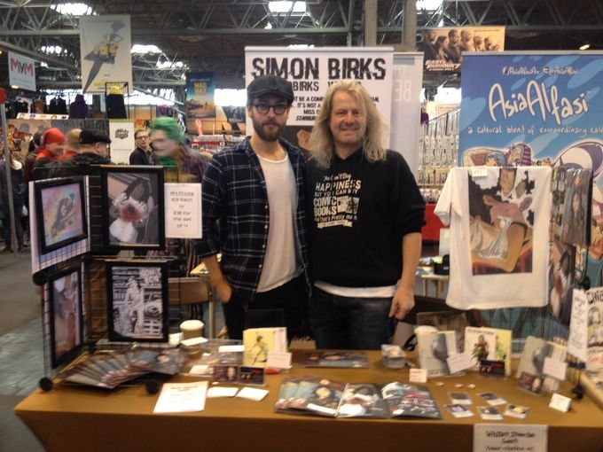 Me with Tom Mison (Sleepy Hollow) at MCM Birmingham Comic Con in March 2015 (I signed a comic for him!)