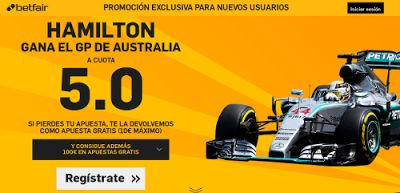 el forero jrvm y todos los bonos de deportes: betfair Hamilton gana supercuota 5 F1 Australia 20...