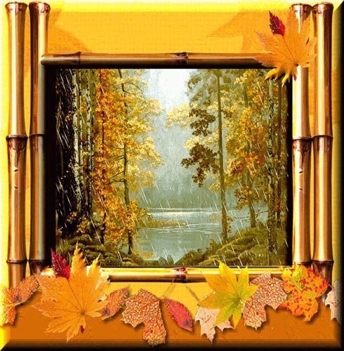 Анимационные открытки Осень - Анимашки, анимированные gif картинки - Красивая анимация на Logif.ru