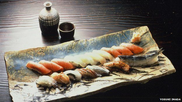 Sushi from the restaurant of Yosuke Imada, a renowned sushi chef in Japan