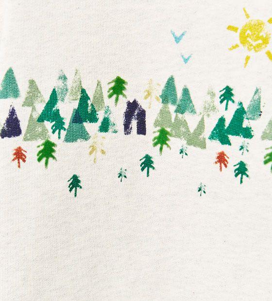 Image 5 of Landscape sweatshirt from Zara