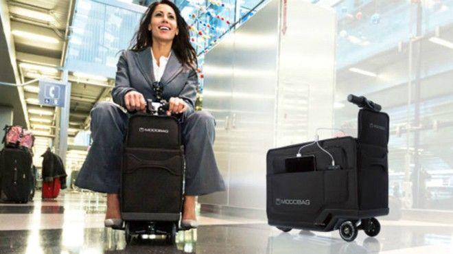 Zobacz jak podróżowanie staje się coraz łatwiejsze.  Przedsiębiorcy z Chicago Kevin O'Donnell i Boyd Bruner stworzyli podróżną torbę, na której można jeździć.Pasażer po prostu siada na walizce i rusza. Modobag sterowany jest za pomocą składanej kierownicy.Torba ma wymiary 56 na 23 na 35 centymetrów. Modobag wyposażona jest w elektryczny silnik, który pozwala na podróż …