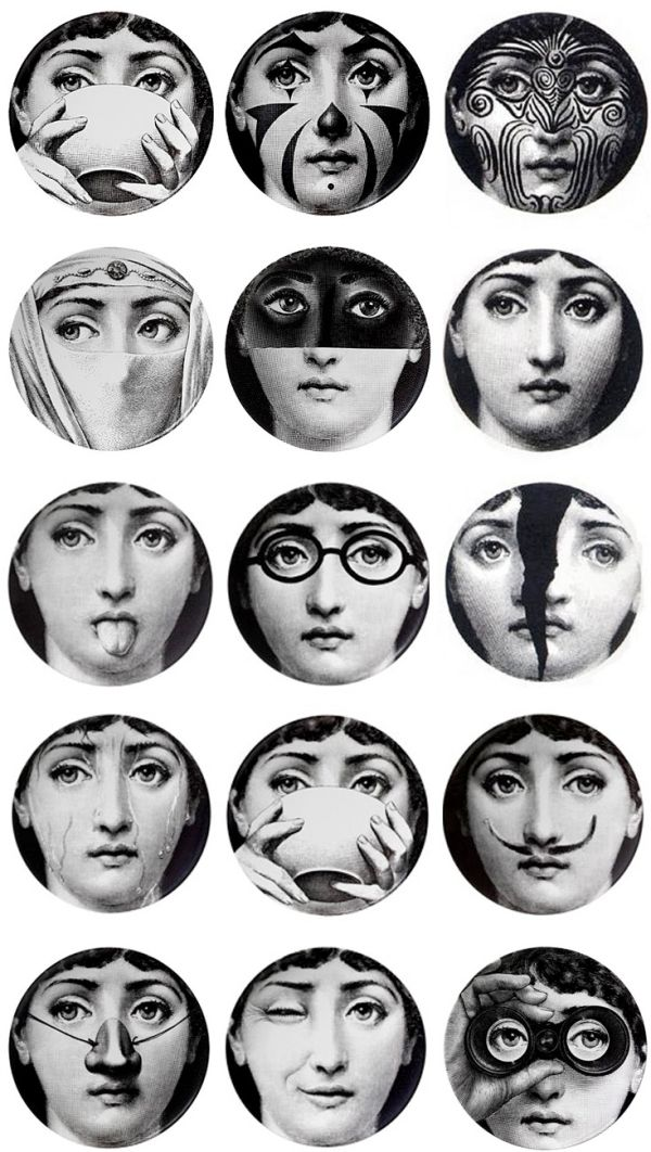 Plates by Piero Fornasetti by gardenpea