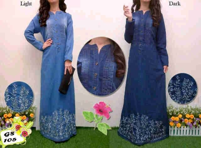 Maxi Jeans Washed Bordir S223 | kaoskeren.net