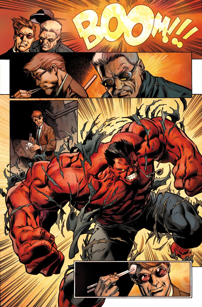 Hulk #10 interior art - Red Hulk by Mark Bagley *