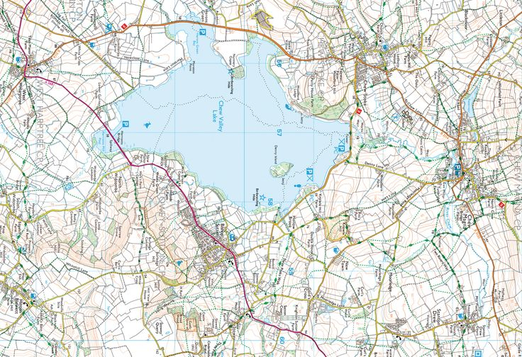 The Chew Valley; Chew Magna, Bishop Sutton, West Harptree & Blagdon - back of the map