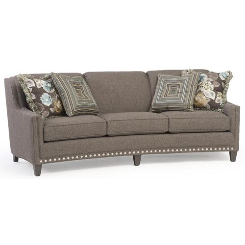 227 Slightly Curved Sofa With Sloping Track Arms And Nail