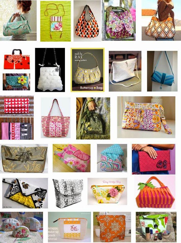 DIY 25 Patrons pour des sacs avec ou sans zip. (Quilt Inspiration: Free pattern day: purses, handbags and zipper bags) (http://quiltinspiration.blogspot.be/2012/08/free-pattern-day-purses-handbags-and.html