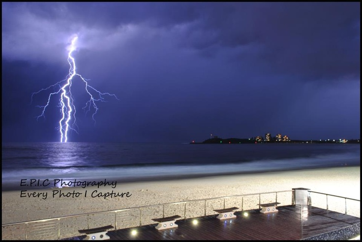 Storm off Mooloolaba Beach, Sunshine Coast, Australia by EPIC photography