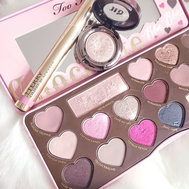 Too Faced Chocolate Bon Bons, By Terry Bubble Glow Ombre Blackstar & Urban Decay Sin lovecatherine.co.uk Instagram catherine.mw xo