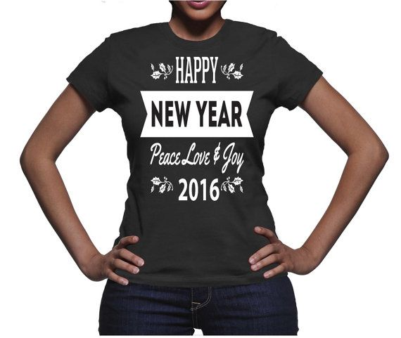 Happy New Year 2016  Peace Love and Joy by NavFifteen on Etsy