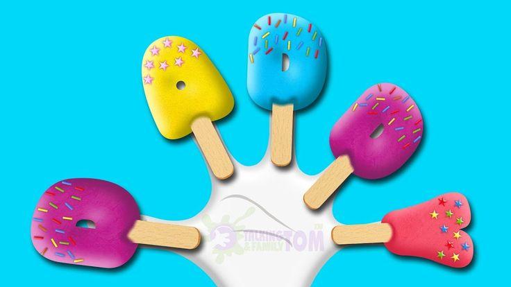 Letters Ice Cream Finger Family Songs - Finger Family Collection - Daddy Finger Song for Children