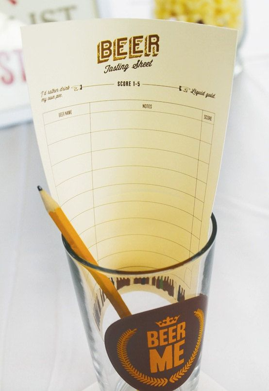 Beer tasting sheet score card. Etsy. Jack Master. $8.00. Instant download.