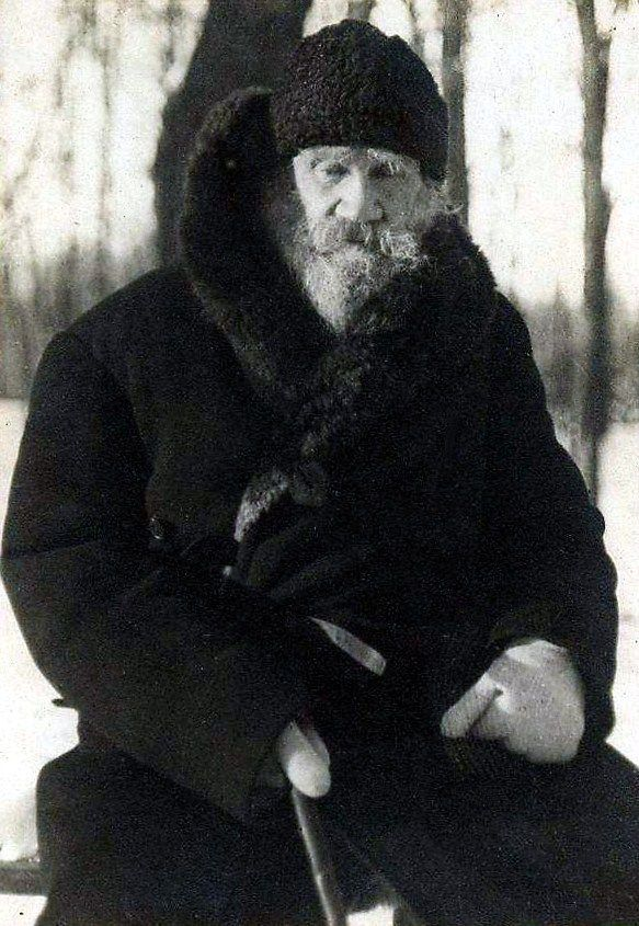 Leo Tolstoy (1828 – 1910) in his Yasnaya Polyana Estate, 1909