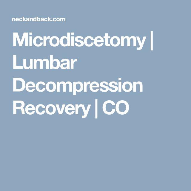 Microdiscetomy | Lumbar Decompression Recovery | CO