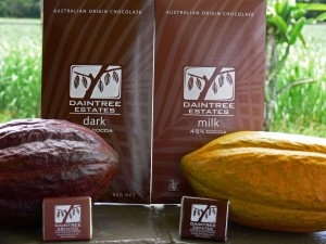 This all Australian gourmet chocolate is grown on the border of the World Heritage listed Daintree rainforest.    Produced by Mossman cocoa growers for Australia but growing in popularity in one of the world's home of chocolate.