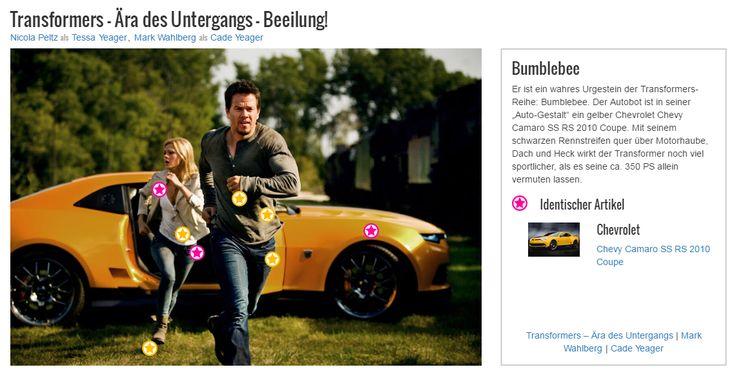 """Er ist ein wahres Urgestein der Transformers-Reihe: Bumblebee. Der Autobot ist in seiner """"Auto-Gestalt"""" ein gelber Chevrolet Chevy Camaro SS RS 2010 Coupe. Mit seinem schwarzen Rennstreifen quer über Motorhaube, Dach und Heck wirkt der Transformer noch viel sportlicher, als es seine ca. 350 PS allein vermuten lassen."""