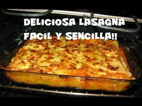 Lasagna de Carne y Quesos Espectacular, Hecha en Casa pero con Sabor Gourmet Ingredientes: 1 1/2 kg de carne molida de res 1 paquete de laminas para lasana (...