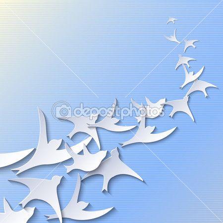Kağıttan kuşlar — Stok Vektör © Waiale #32320415