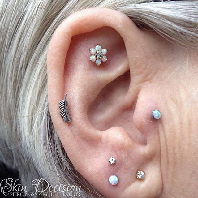 This Gorgeous Ear Recently Got A New Addition Stacked Earlobe