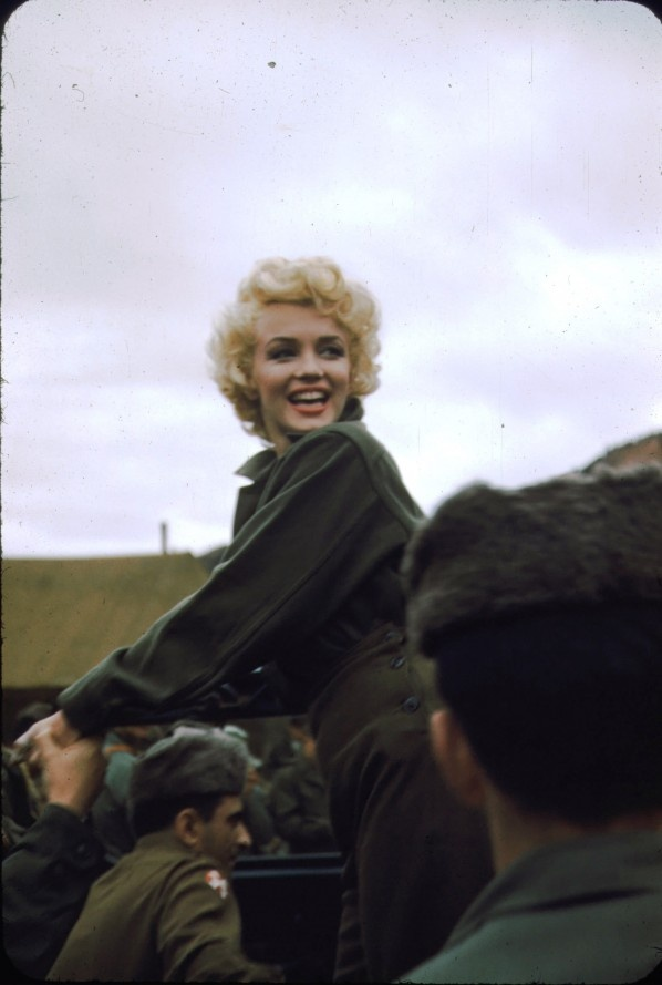 Marilyn Monroe with the Marines in Korea - Lot of difference between this picture of Marilyn Monroe in Korea with American Marines and Jane Fonda (Hanoi Jane)