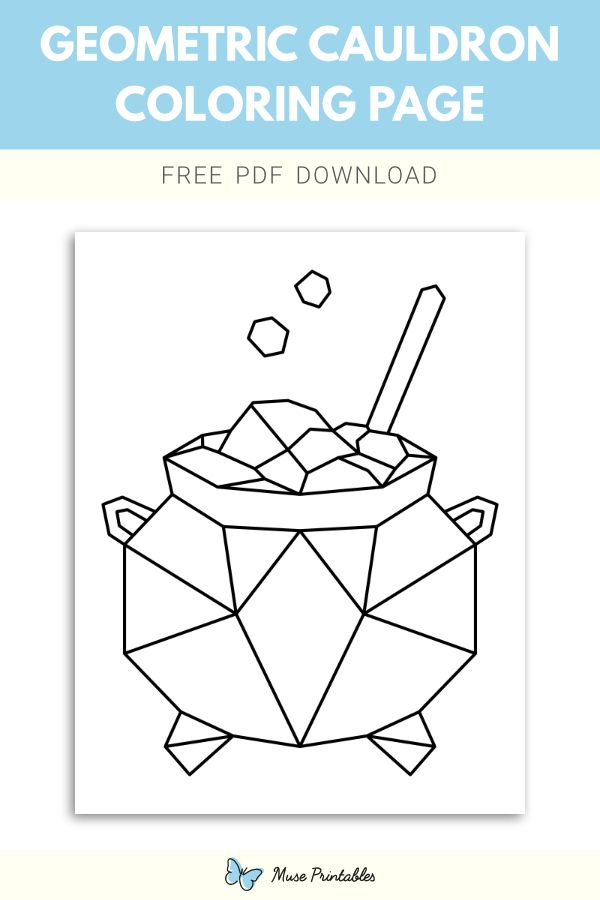 Free Geometric Cauldron Coloring Page Coloring Pages Color Geometric