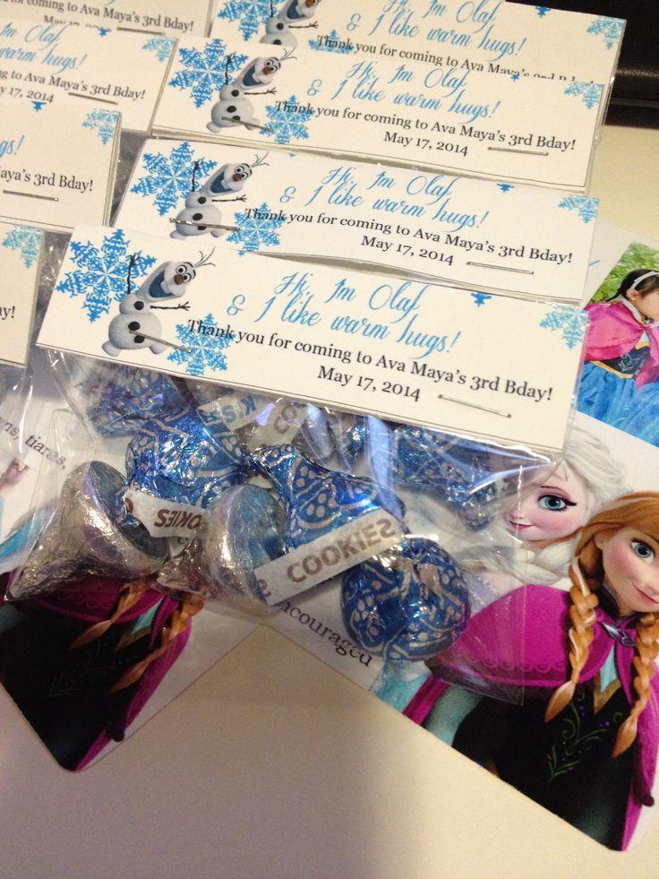 "Disney Frozen party favor ""hi I'm Olaf & I like warm"