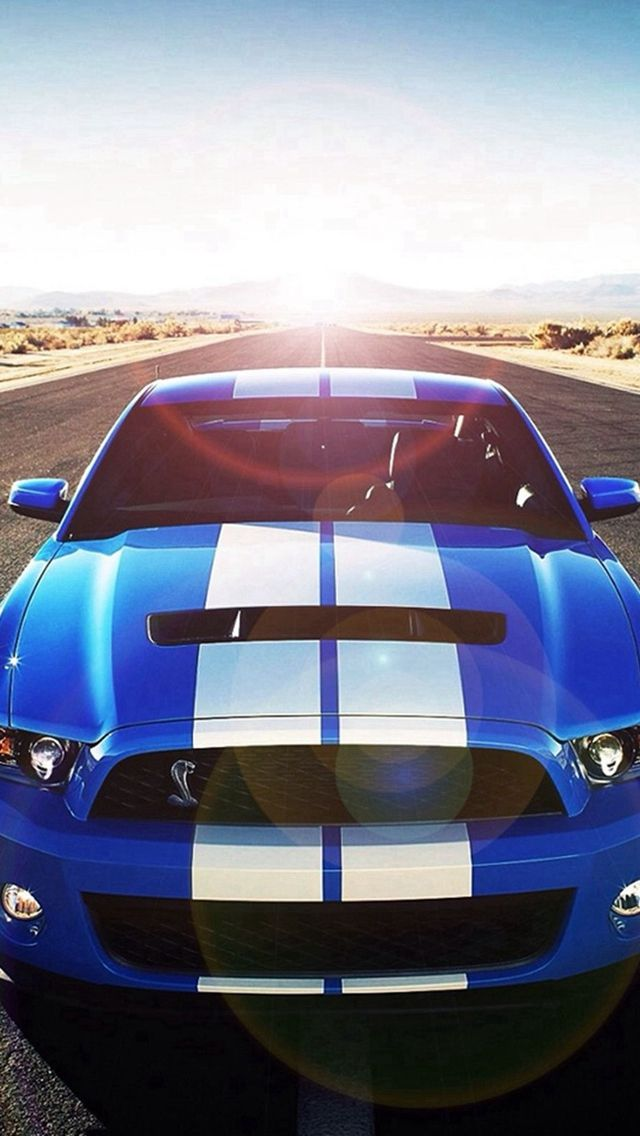 Sunshine Road Blue Cool Car iPhone 5s wallpaper Ford