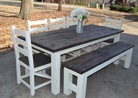 Simply Southern Home Décor~ We sell custom built farmhouse tables/ dining sets, benches, sofa tables, chairs, headboards, dressers, entry tables, buffets, coffee tables, sliding barn doors, bed...