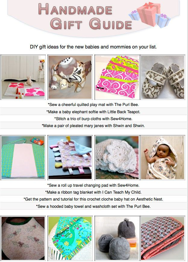 16 diy gift tutorials for babies and new parents!
