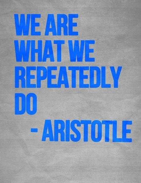 Aristotle Quote We Are What