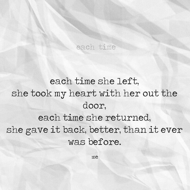each time...a simple poem