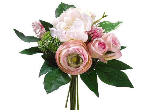 46 best silk flower stems images on pinterest silk flowers stems peony and rose wedding silk bouquet in pink and cream 11 mightylinksfo