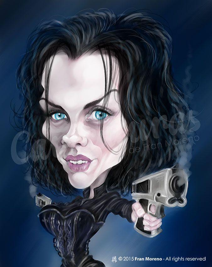"""Caricatura de la actriz de """"Underworld"""" Kate Beckinsale - Fran Moreno Digital Art"""