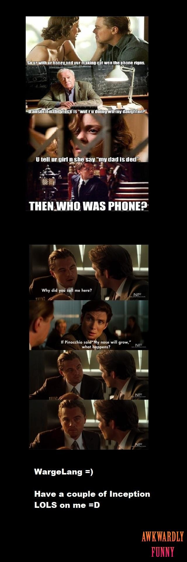 LMAO!!! Inception | awkwardlyfunny | Pinterest