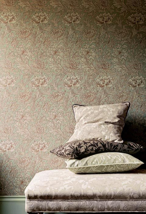 tapet 81304 chrysanthemum toile eggshell gold fr n william morris co tapetorama. Black Bedroom Furniture Sets. Home Design Ideas