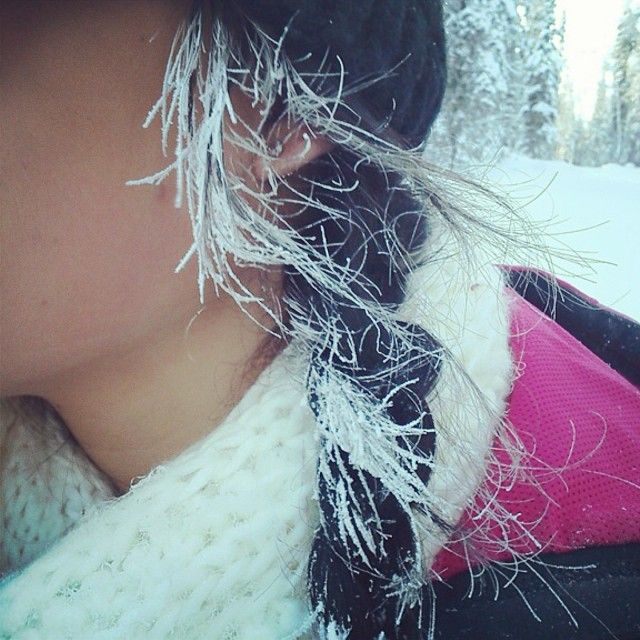 Still bitterly cold out there, stay safe!  #frozen #hair #cbdsalon #waynenjsalon  (at Christina by design)