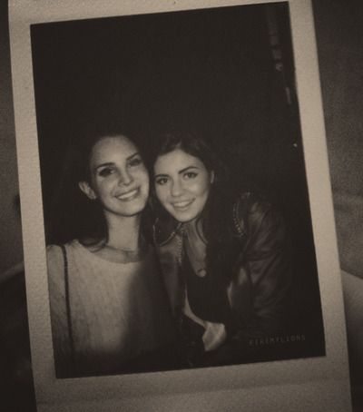Lana Del Rey and Marina and The Diamonds... This picture can't get any better! My Queens